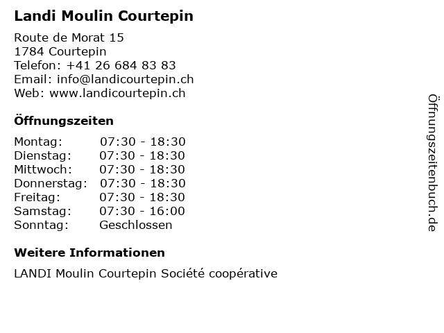Landi Moulin Courtepin in Courtepin: Adresse und Öffnungszeiten