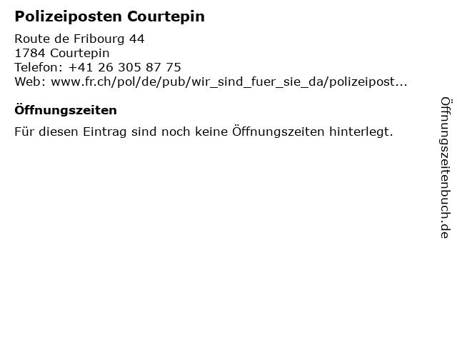 Polizeiposten Courtepin in Courtepin: Adresse und Öffnungszeiten