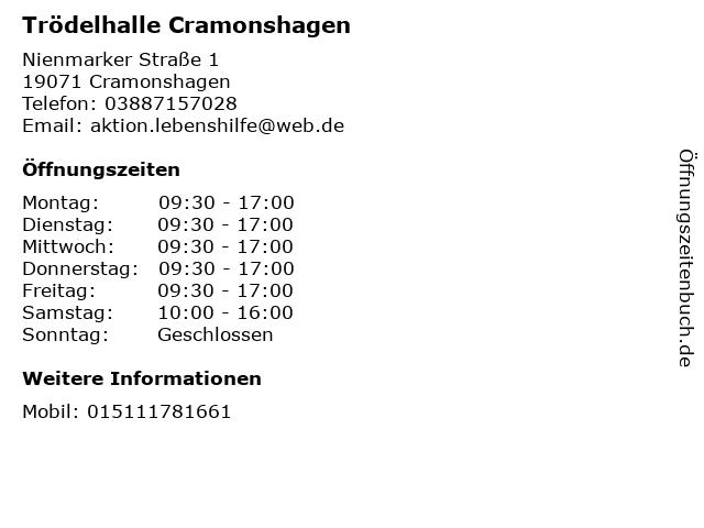Trödelhalle Cramonshagen in Cramonshagen: Adresse und Öffnungszeiten