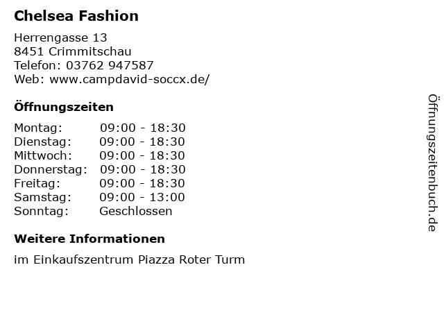 Chelsea Fashion in Crimmitschau: Adresse und Öffnungszeiten