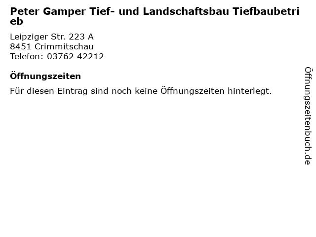 ᐅ Offnungszeiten Peter Gamper Tief Und Landschaftsbau
