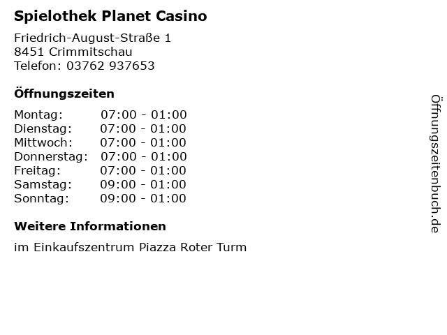 Spielothek Planet Casino in Crimmitschau: Adresse und Öffnungszeiten