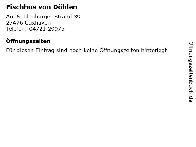 Fischhus von Döhlen in Cuxhaven: Adresse und Öffnungszeiten