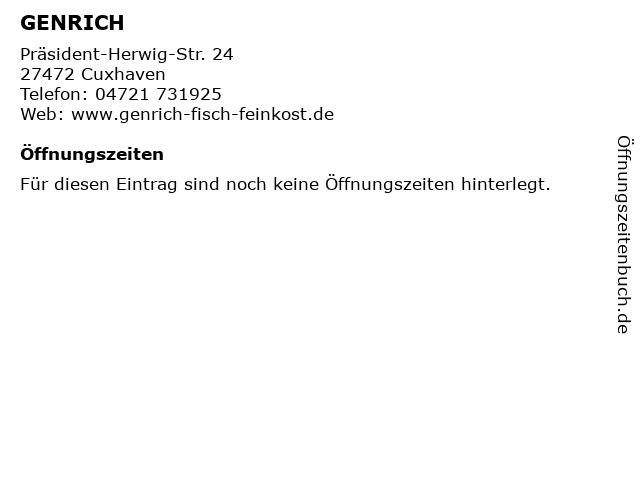 GENRICH in Cuxhaven: Adresse und Öffnungszeiten