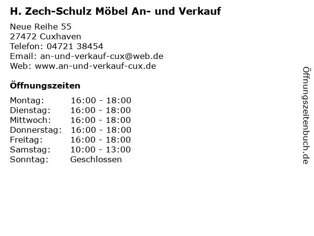 ᐅ öffnungszeiten H Zech Schulz Möbel An Und Verkauf Neue