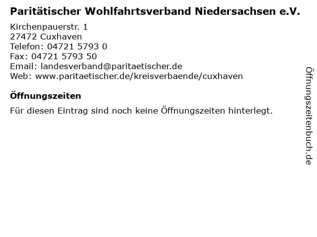 Paritätischer Wohlfahrtsverband Niedersachsen e.V. in Cuxhaven: Adresse und Öffnungszeiten
