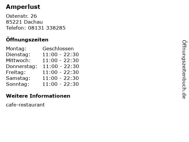 Amperlust in Dachau: Adresse und Öffnungszeiten