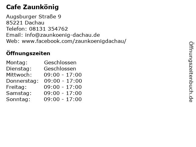 Cafe Zaunkönig in Dachau: Adresse und Öffnungszeiten