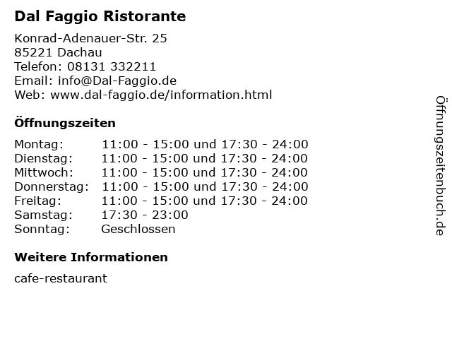 Dal Faggio Ristorante in Dachau: Adresse und Öffnungszeiten