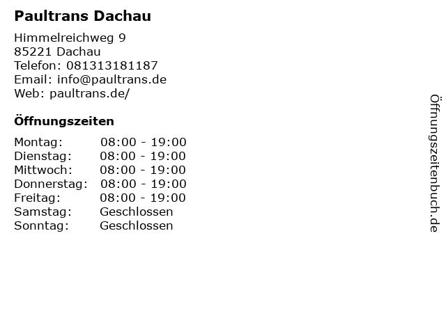 Paultrans Dachau in Dachau: Adresse und Öffnungszeiten