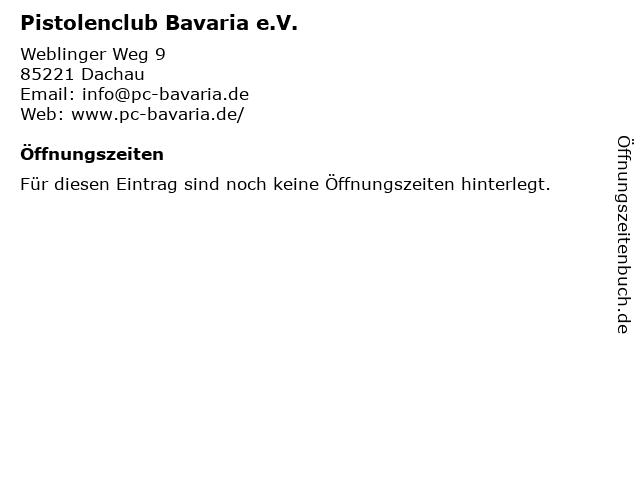Pistolenclub Bavaria e.V. in Dachau: Adresse und Öffnungszeiten