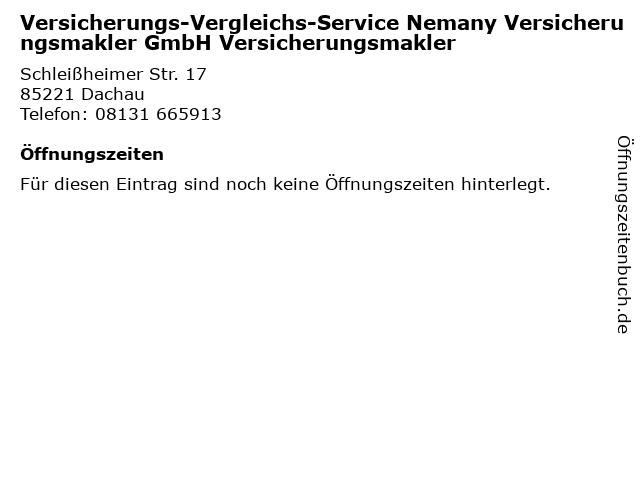 ᐅ Offnungszeiten Versicherungs Vergleichs Service Nemany
