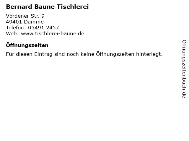 Bernard Baune Tischlerei in Damme: Adresse und Öffnungszeiten