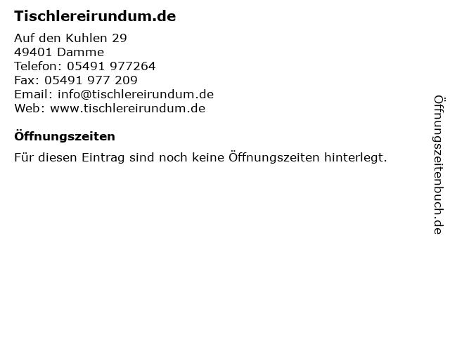 Tischlereirundum.de in Damme: Adresse und Öffnungszeiten