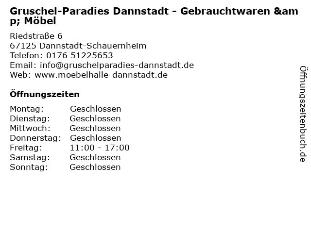Gruschel-Paradies Dannstadt - Gebrauchtwaren & Möbel in Dannstadt-Schauernheim: Adresse und Öffnungszeiten