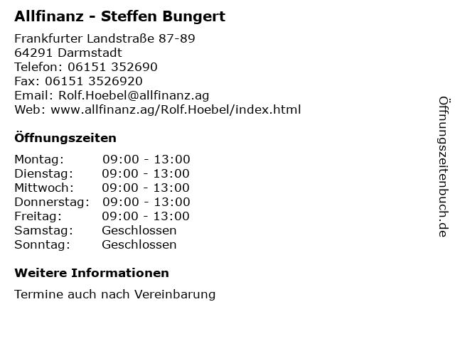 Allfinanz - Steffen Bungert in Darmstadt: Adresse und Öffnungszeiten