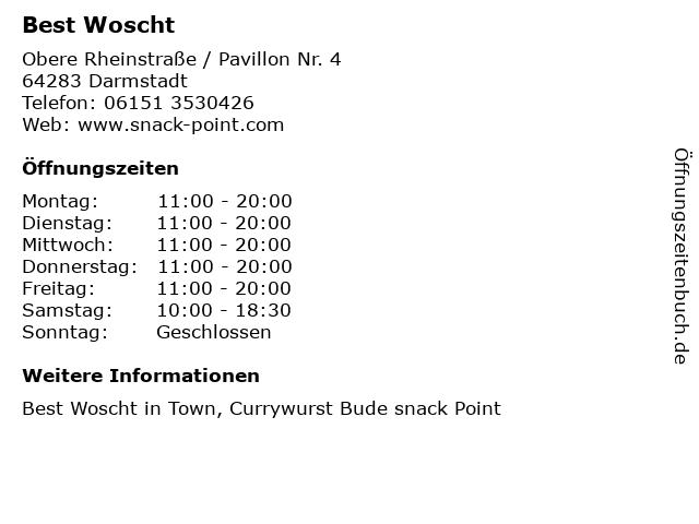 Best Woscht in Darmstadt: Adresse und Öffnungszeiten