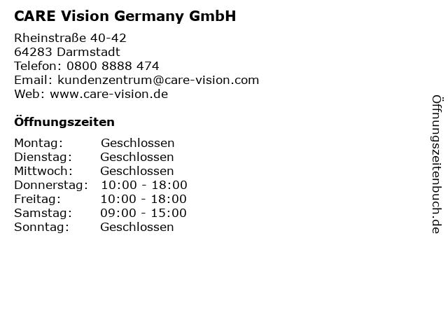 CARE Vision Germany GmbH in Darmstadt: Adresse und Öffnungszeiten