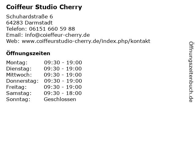 Coiffeur Studio Cherry in Darmstadt: Adresse und Öffnungszeiten