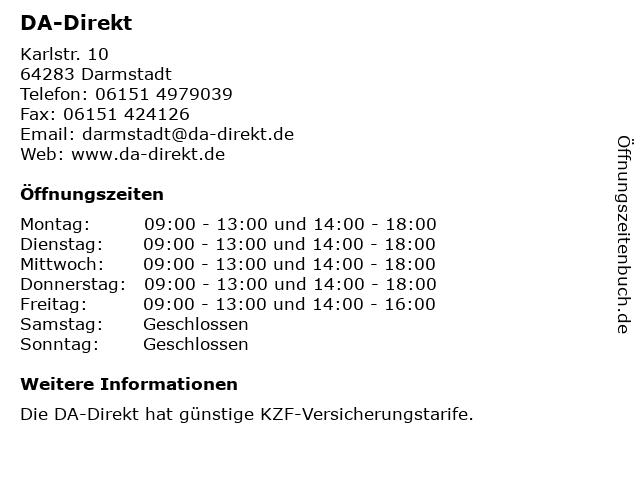 DA-Direkt in Darmstadt: Adresse und Öffnungszeiten
