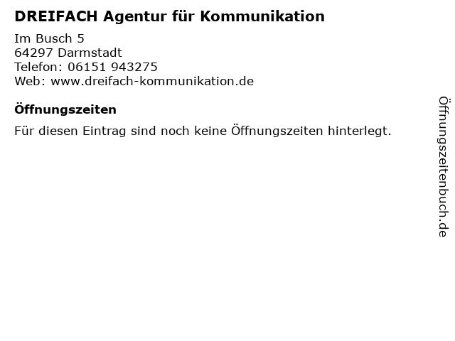 DREIFACH Agentur für Kommunikation in Darmstadt: Adresse und Öffnungszeiten