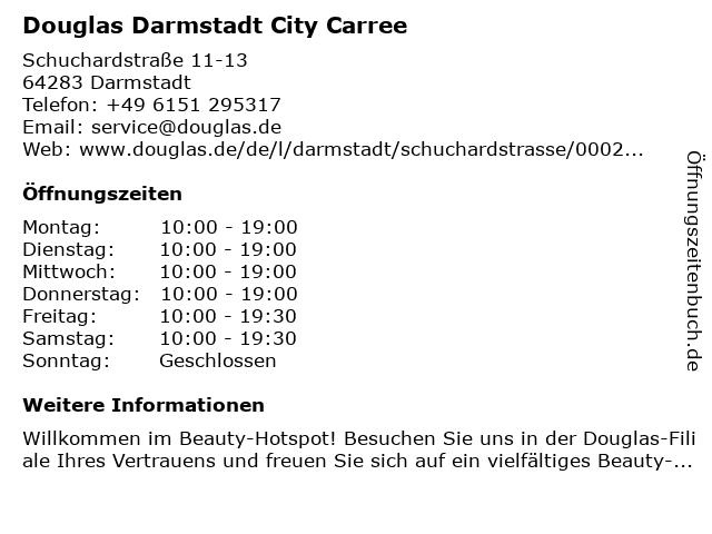 Parfümerie Douglas Darmstadt in Darmstadt: Adresse und Öffnungszeiten