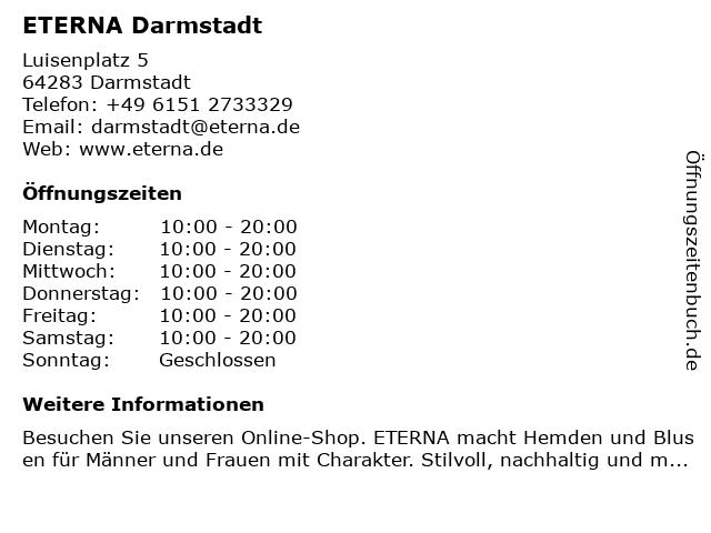 ETERNA Darmstadt in Darmstadt: Adresse und Öffnungszeiten