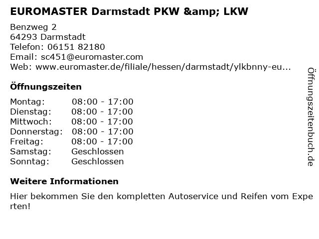 EUROMASTER GmbH in Darmstadt: Adresse und Öffnungszeiten
