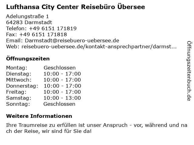 FIRST REISEBÜRO in Darmstadt: Adresse und Öffnungszeiten