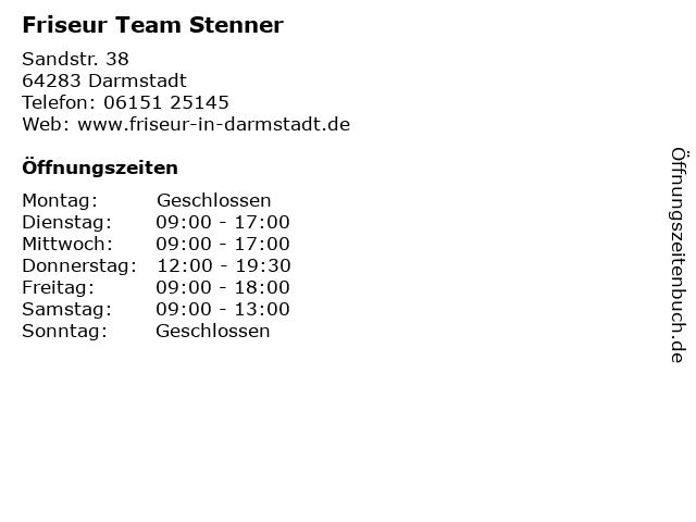 Friseur Team Stenner in Darmstadt: Adresse und Öffnungszeiten