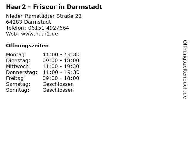 Haar2 - Friseur in Darmstadt in Darmstadt: Adresse und Öffnungszeiten