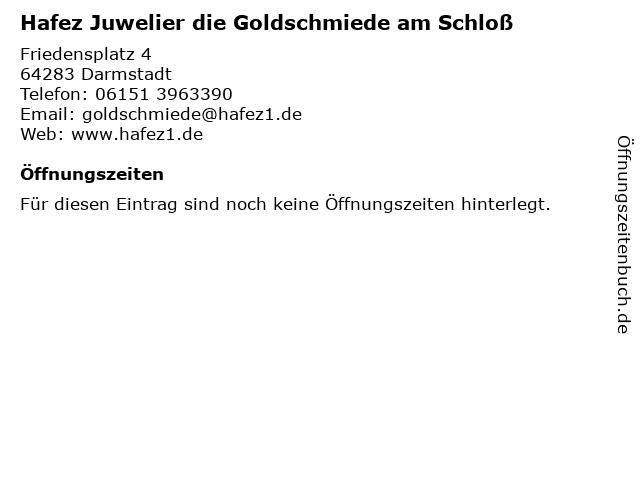 ᐅ öffnungszeiten Hafez Juwelier Die Goldschmiede Am Schloß