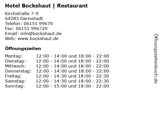 Hotel Bockshaut | Restaurant in Darmstadt: Adresse und Öffnungszeiten