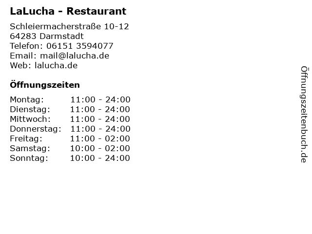 LaLucha - Restaurant in Darmstadt: Adresse und Öffnungszeiten