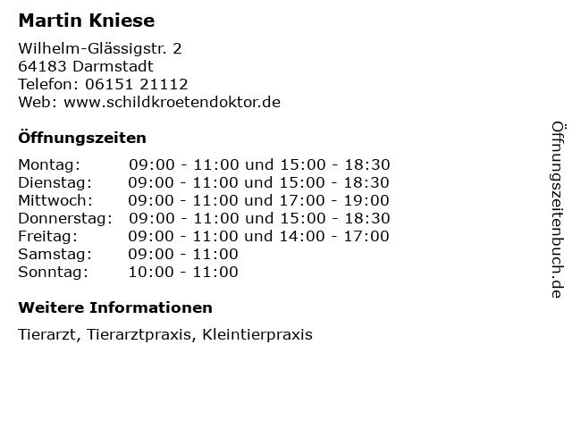 Martin Kniese in Darmstadt: Adresse und Öffnungszeiten