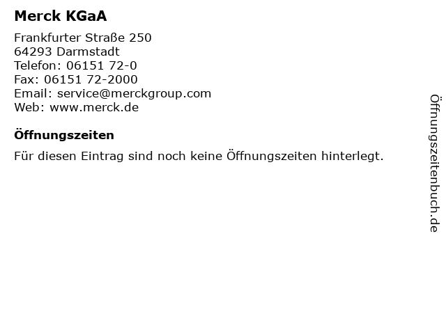 Merck KGaA in Darmstadt: Adresse und Öffnungszeiten