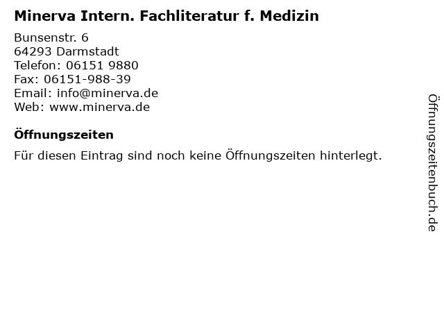 Minerva Intern. Fachliteratur f. Medizin in Darmstadt: Adresse und Öffnungszeiten