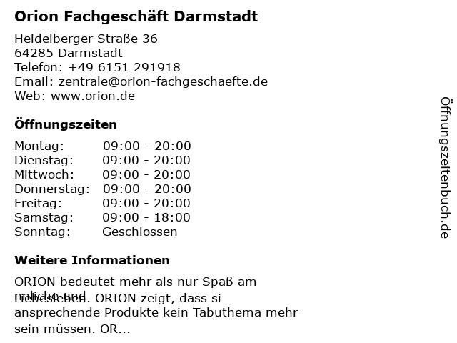 Orion Darmstadt