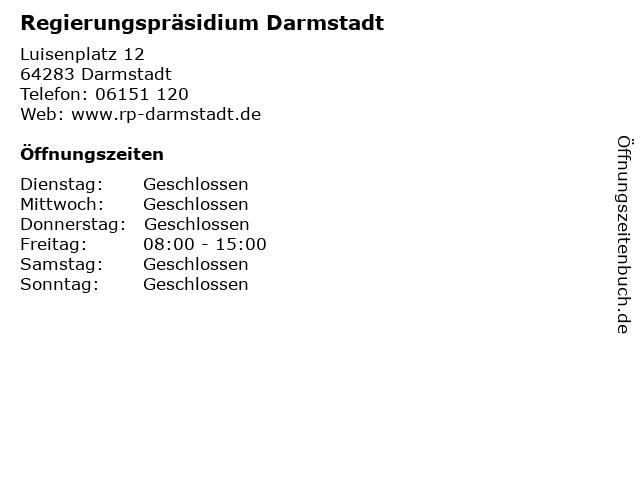 Regierungspräsidium Darmstadt in Darmstadt: Adresse und Öffnungszeiten