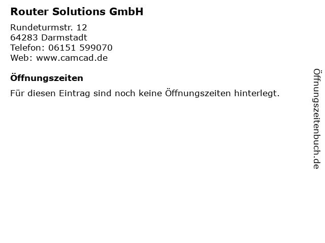 Router Solutions GmbH in Darmstadt: Adresse und Öffnungszeiten