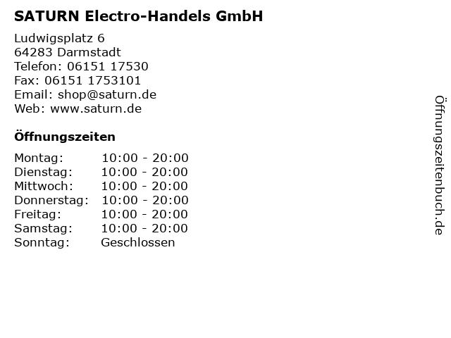 SATURN Electro-Handels GmbH in Darmstadt: Adresse und Öffnungszeiten