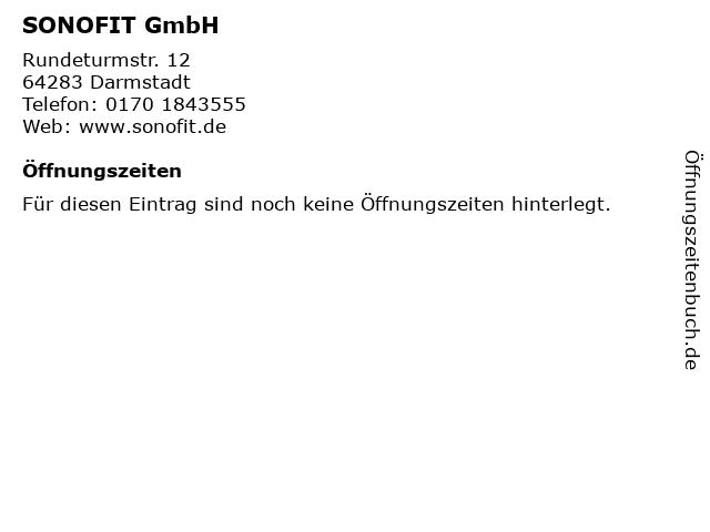 SONOFIT GmbH in Darmstadt: Adresse und Öffnungszeiten