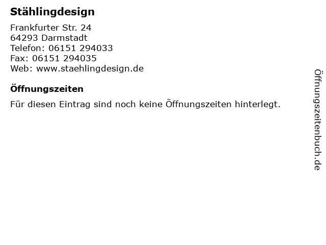 Stählingdesign in Darmstadt: Adresse und Öffnungszeiten