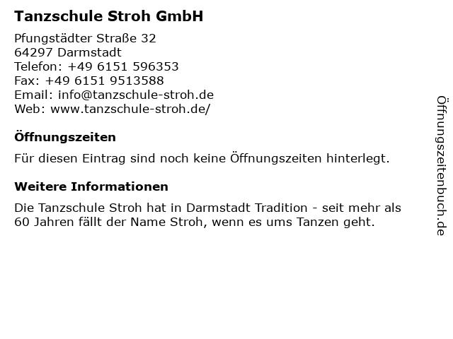 ᐅ Offnungszeiten Tanzschule Stroh Pfungstadter Str 32 In Darmstadt
