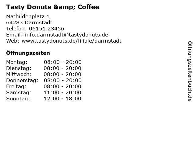 Tasty Donuts & Coffee in Darmstadt: Adresse und Öffnungszeiten