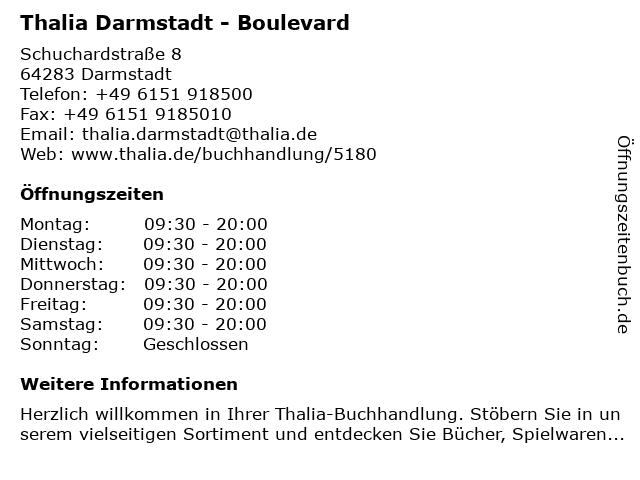 Thalia Darmstadt - Boulevard in Darmstadt: Adresse und Öffnungszeiten