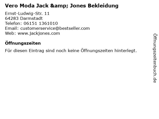 Vero Moda Jack & Jones Bekleidung in Darmstadt: Adresse und Öffnungszeiten