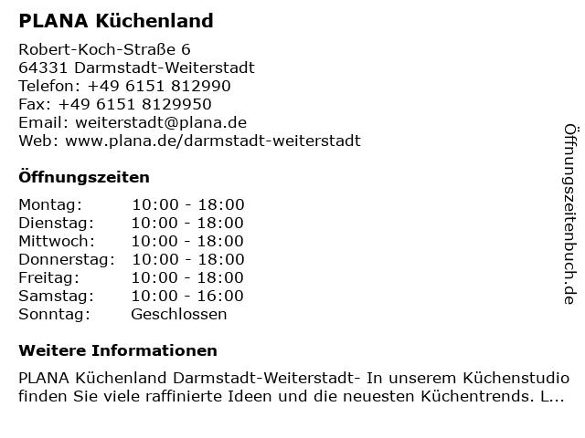 PLANA Küchenland Darmstadt-Weiterstadt- Kizil Interior Services GmbH- Küchen nach Maß in Darmstadt-Weiterstadt: Adresse und Öffnungszeiten