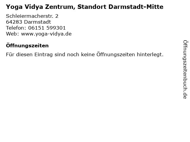 Yoga Vidya Zentrum, Standort Darmstadt-Mitte in Darmstadt: Adresse und Öffnungszeiten