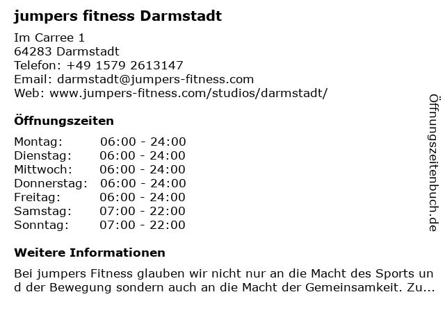 jumpers fitness Darmstadt in Darmstadt: Adresse und Öffnungszeiten